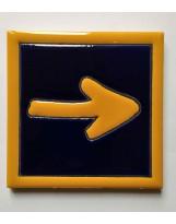 Carrelage céramique CAMINO (flèche jaune)