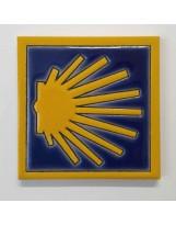 Magnet coquille (avec bordure jaune)