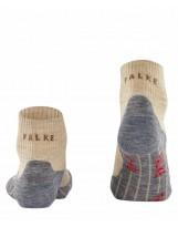 Chaussettes FALKE Mérinos Trekking TK5 Short Femme Nature Mel