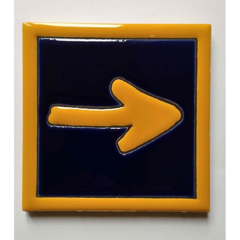 Carrelage céramique CAMINO (flèche jaune) - CAMINOLOC