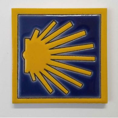 Magnet 6 coquille (avec bordure jaune)