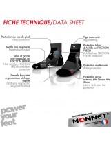 Chaussettes MONNET Mid Expert rouge