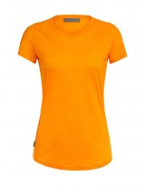 T-shirt ICEBREAKER Mérinos Cool-Lite Manches Courtes Orange (Femme)